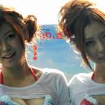 劇中の濡れTシャツコンテストを再現!『ピラニア』ブルーレイ&DVD発売記念記者発表