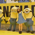 """8月7日は「バナナの日」!渋谷にミニオンがやって来た!  大人気モデル""""まえのん""""こと、前田希美がミニオンのコスプレで登場!"""